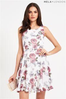 Mela Vintage Floral Print Day Dress