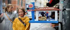 résidu de gras de fast-food pour petits oiseaux démunis - Burger King - Brian Wolter