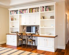 Inspiring 2 Person Desk For Home Office And Work Station: 2 Person Workspace And Computer Area With White Cabinets And Shelvings Idea ~ edublogger.com Home Office Design Inspiration