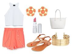 """""""Untitled #26"""" by briannasharee ❤ liked on Polyvore featuring Zara, Kenneth Jay Lane, HoneyBee Gardens and H&M"""