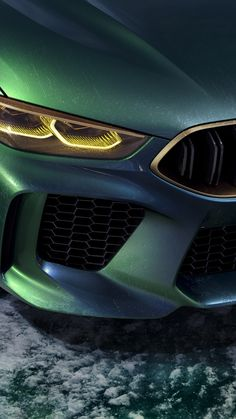 BMW Concept M8 Gran Coupé, headlights, 720x1280 wallpaper