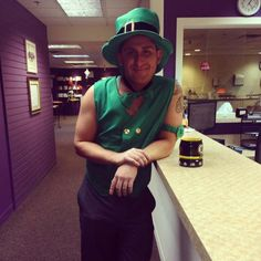Top O' The Mornin' To Ya! Here at the Catherine Hinds Institute we have our very own Leprechaun for St. Patrick's Day. Meet Patrick! emojiemojiemoji#CatherineHinds #HappyStPatricksDay #TheCHILife #PotOfGoldNotIncluded