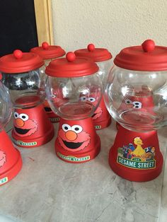 Elmo First Birthday, Boys 1st Birthday Party Ideas, Seasame Street Party, Sesame Street Birthday, Elmo Party, Mickey Party, Dinosaur Party, Dinosaur Birthday, Elmo Centerpieces