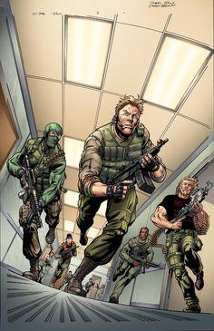 Gi Joe 3 by on DeviantArt Snake Eyes Gi Joe, Joe Movie, Gung Ho, Futuristic Armour, The Valiant, Gi Joe Cobra, War Comics, Vintage Tv, Classic Cartoons
