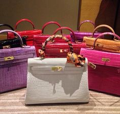 Hermes crocodile kelly bags