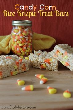 Candy Corn Rice Krispie Treat Bars Recipe