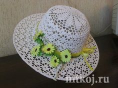 Летняя шляпа крючком, подробная схема