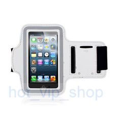 GREY SPORTS NEOPRENE RUNNING WORKOUT ARMBAND PHONE CASE COVER for iphone 5 5S 5C
