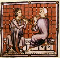 "Recorder players  The Cantigas de Santa Maria  The Cantigas de Santa Maria medieval-era manuscripts were written during the reign of Alfonso X ""El Sabio"" (1221-1284) and are one of the largest collections of monophonic (solo) songs from the middle ages."
