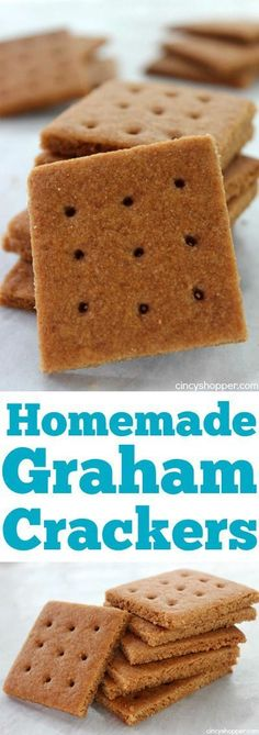 Graham Crackers- Super simple and so much better than store bought. Enjoy them for a snack or even make homemade S'mores.Homemade Graham Crackers- Super simple and so much better than store bought. Enjoy them for a snack or even make homemade S'mores. Baby Food Recipes, Sweet Recipes, Snack Recipes, Dessert Recipes, Cake Recipes, Biscuits Graham, Cookies Decorados, Graham Crackers, Treats