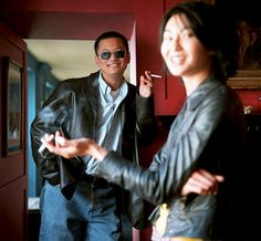 "Maggie Cheung and Wong Kar-Wai photographed by Neville Elder while promoting ""In The Mood For Love"", 2000"