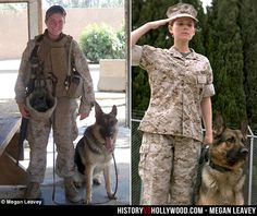 We compare the Megan Leavey true story to the movie about dog Sergeant Rex and Marine Corporal Megan Leavey. Military Working Dogs, Military Dogs, Military Women, Police Dogs, Military Quotes, Megan Leavey, German Shepherd Dogs, German Shepherds, War Dogs