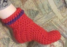 easily adjustable crochet slipper boots