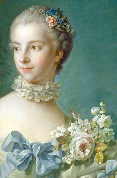 Madame Bergeret (detail) - François Boucher
