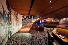 SushiSamba designed by CetraRuddy (view of sushi bar and graffiti wall)