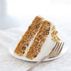 Best-Ever Gluten-free Carrot Cake- made without starches or gums and topped with a luscious Cream Cheese and Greek Yogurt icing!