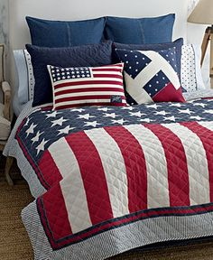 Red White Blue Blue Bedding And Bedding On Pinterest
