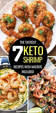 Keto Shrimp recipes! These low carb shrimp recipes with zucchini noodles, garlic butter, cream cheese or simple grilled keto shrimp make for the perfect keto dinners, keto lunches and main dishes. Don't miss out on the keto shrimp spaghetti squash, it's to die for! #keto #ketorecipes #ketodiet #ketogenic #ketogenicdiet