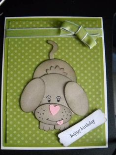 handmade birthday card: Puppy Birthday  ... adorable puppy made from punches ... Stampin' Up!