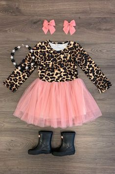 Pink Cheetah Tutu Dress