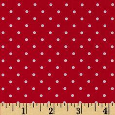 Michael Miller Pinhead Dot Red from @fabricdotcom  From Michael Miller, this cotton print is perfect for quilting, apparel and home decor accents.  Colors include white and red.