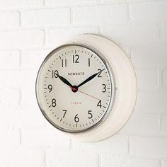 Newgate Cookhouse Clock - Linen White   west elm