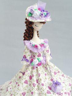 Купить Текстильная кукла.Тряпиенс.Алина - сиреневый, тряпиенса, тряпиенсы, тряпиенс, корейские тряпиенсы