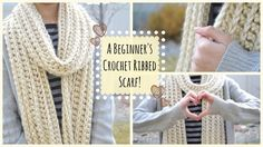 Hi guys! In this beginner's video, I'll be showing you how to crochet a scarf for beginners, and to make it better, it's a beautiful ribbed scarf! Hope you e...