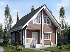 New Ideas For Exterior House Plans Cottages Farm House Colors, Exterior House Colors, Exterior Design, 2 Story House Design, Exterior Doors With Glass, Exterior Stairs, House Color Schemes, Rustic Cottage, Tiny House Plans