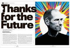 How the Newsweeklies Covered (and Designed) the Death of Steve Jobs Steve Jobs, Innovation, Cool Designs, Death, Thankful, American, Cover, Movie Posters, Fictional Characters