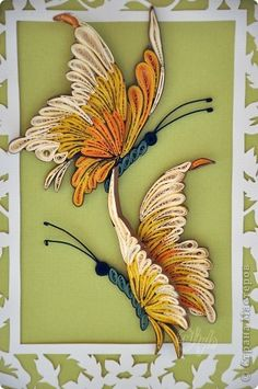 Quilled butterflies