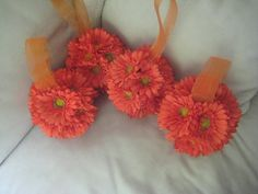 Flowers, Reception, Pink, White, Green, Ceremony, Purple, Red, Bouquet, Orange, Decor, Bridesmaids, Gold, Bridesmaid, Girl, Aisle, Gerbera, Daisy, Pomanders, Balls, Kissing