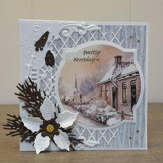 Christmas Poinsettia, Christmas Tag, Christmas Themes, Vintage Christmas, Christmas Crafts, Christmas Lodge, Marianne Design Cards, Adult Crafts, Heartfelt Creations