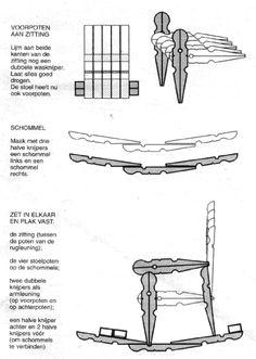 Knijper schommelstoel