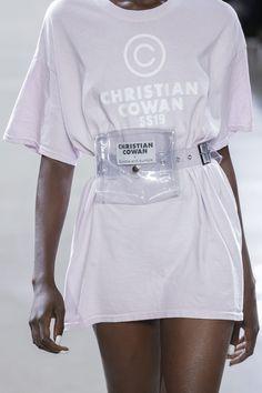 9ebb1fe3 Bag Trend for SS19: Plastic Sheer. Christian Cowan Spring Summer 2019.  Streetwear,