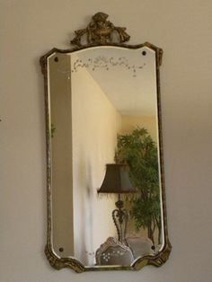 Antique Hollywood Regency Large Gilt Mirror by onlinechic on Etsy