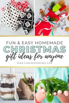 'Tis the season to start shopping. Before you make your holiday shopping list (and check it twice), take a peek at these homemade Christmas gift ideas! These heartfelt, thoughtful, DIY presents are sure to make your season bright. Easy Homemade Christmas Gifts, Diy Gifts In A Jar, Easy Homemade Gifts, Diy Gifts For Men, Jar Gifts, Christmas Crafts For Kids, Christmas Diy, Mason Jar Cookies, Diy Presents