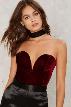 Rare London Sweet 'n Low Velvet Bodysuit | Shop Product at Nasty Gal!