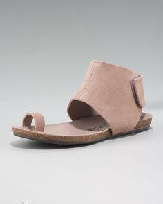 Pedro Garcia Ankle-Cuffed Flat Sandal, Blush.
