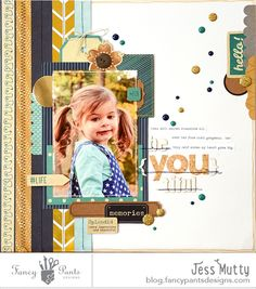 beYOUtiful layout by Jess Mutty using the NEW Flutter collection by FancyPantsDesigns.com