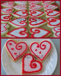 pretty Valentine's day cookies