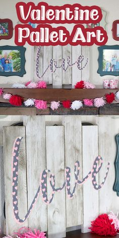 I'm not the pallet art expert in my family {that's my sister}, but I thought I would try my hand at diy pallet art when I saw these little pallets for sale. I cut my fabric on my ScanNcut , super simple, and use it to decorate my pallet for a Valentines Day decoration.