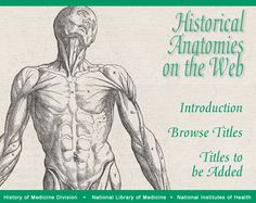 Browse digitized scans of historical anatomy atlases.  From the National Library of Medicine.