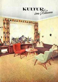 50er jahre m bel pinteres for Wohnzimmer 50er stil