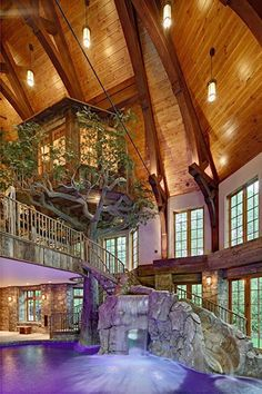 Excellent Lakefront Dream Home Lists With Indoor Tree House! (PHOTOS)  The post  Lakefront Dream Home Lists With Indoor Tree House! (PHOTOS)…  appeared first on  Nenin Decor .