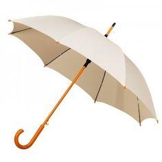 Beautiful Ivory wedding umbrella with wooden handle