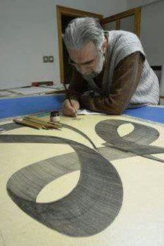 Islamic Calligraphy, Sufi, Videos, Letters, Drawing, Craft, Artist, Painting, Creative Crafts