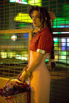 Character: Aerith Gainsborough / From: Square Enix's 'Final Fantasy VII' / Cosplayer: Sarah Quillian Scott (aka Adella) / Photo: Kyle Johnson Photography 2005