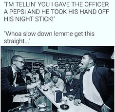 ...when you had to post your favorite one so far! Thanks @iamdhicks #pepsi #muhammadali #malcolmx #riots #civilrights #civilrightsmovement #policebrutality #blacklivesmatter #protest #protests #march #rally #violence #peace #healing #justice #injustice #cortneyhicks
