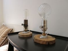 Rustic Chic Table lamp with driftwood base by RizzoAndCrane, $65.00